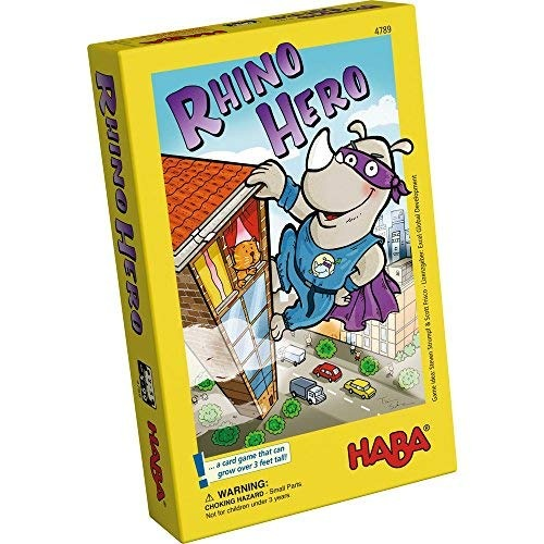 Haba Rhino Hero Un Heroico Juego De Cartas Para Ninos De 5