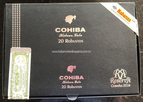 habano cohiba robustos reserva cosecha 2014 unidad cubano