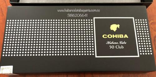 habanos cohiba club humidor x50 unidades 100% originales
