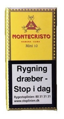 habanos cubanos montecristo mini 10 p/ fumar cigarros caja
