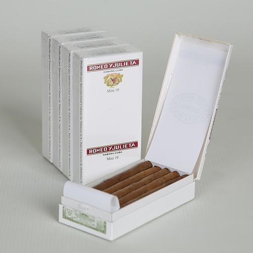 habanos cubanos pack x50 cigarros romeo y julieta mini 10