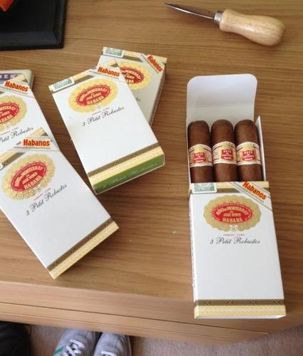 habanos hoyo de monterrey petit robusto habano cubano tabaco