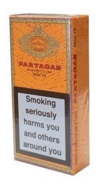 habanos mini 10 partagas para fumar cigarros cubanos pack x5
