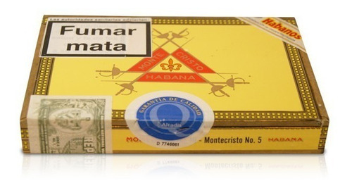 habanos montecristo n5 numero 5 pack x5 habano cuba puros