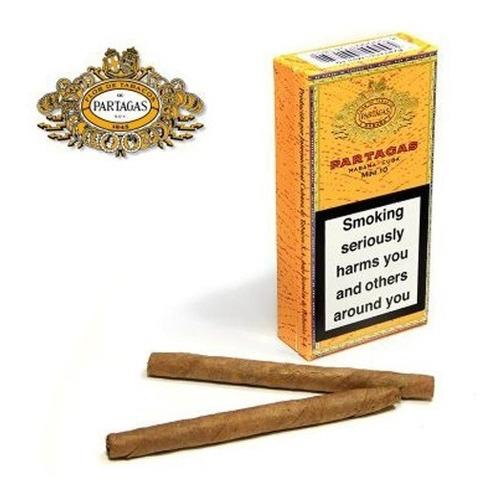 habanos partagas mini 10 para fumar cigarros cubanos caja