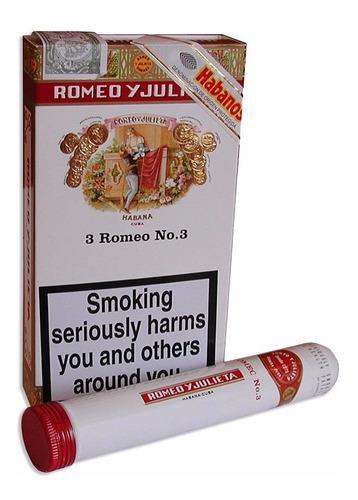 habanos romeo y julieta n3 tubos caja x3 habano numero 3