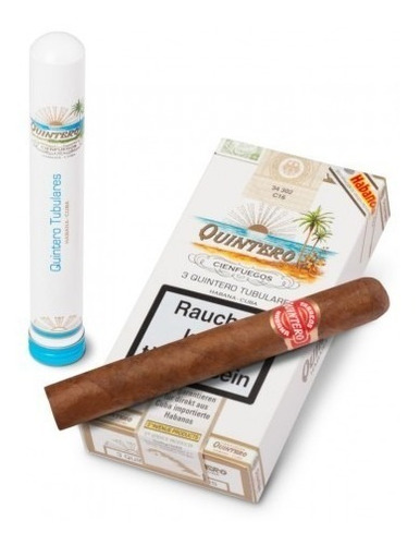 habanos tubulares quintero cubanos puros fumar tubos caja x3