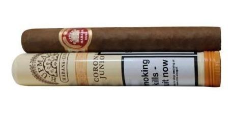 habanos upmann upman h corona juniors cubanos tubos fumar x1