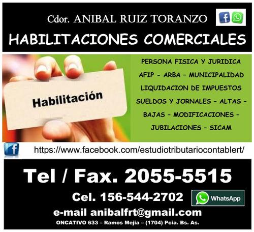 habilitacion municipal comercio industria contador certifica