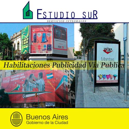 habilitaciones comerciales municipales -publicidad -caba-