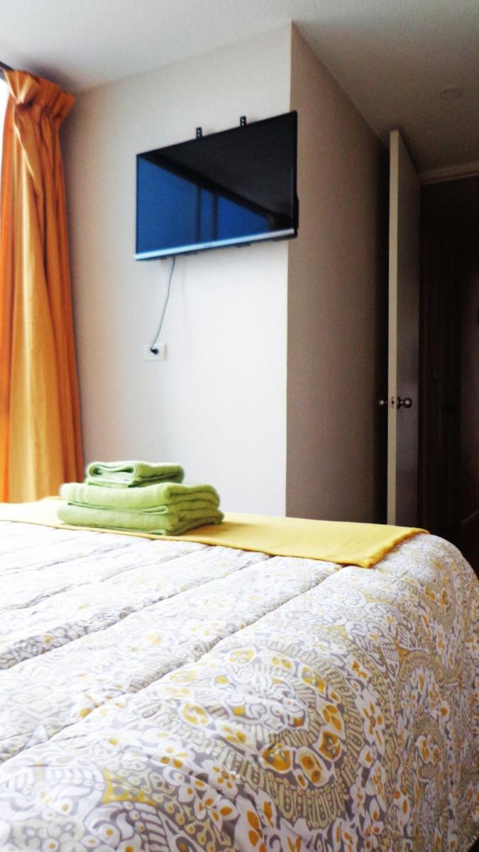 habitacion amoblada vista mar en club house. persona sola