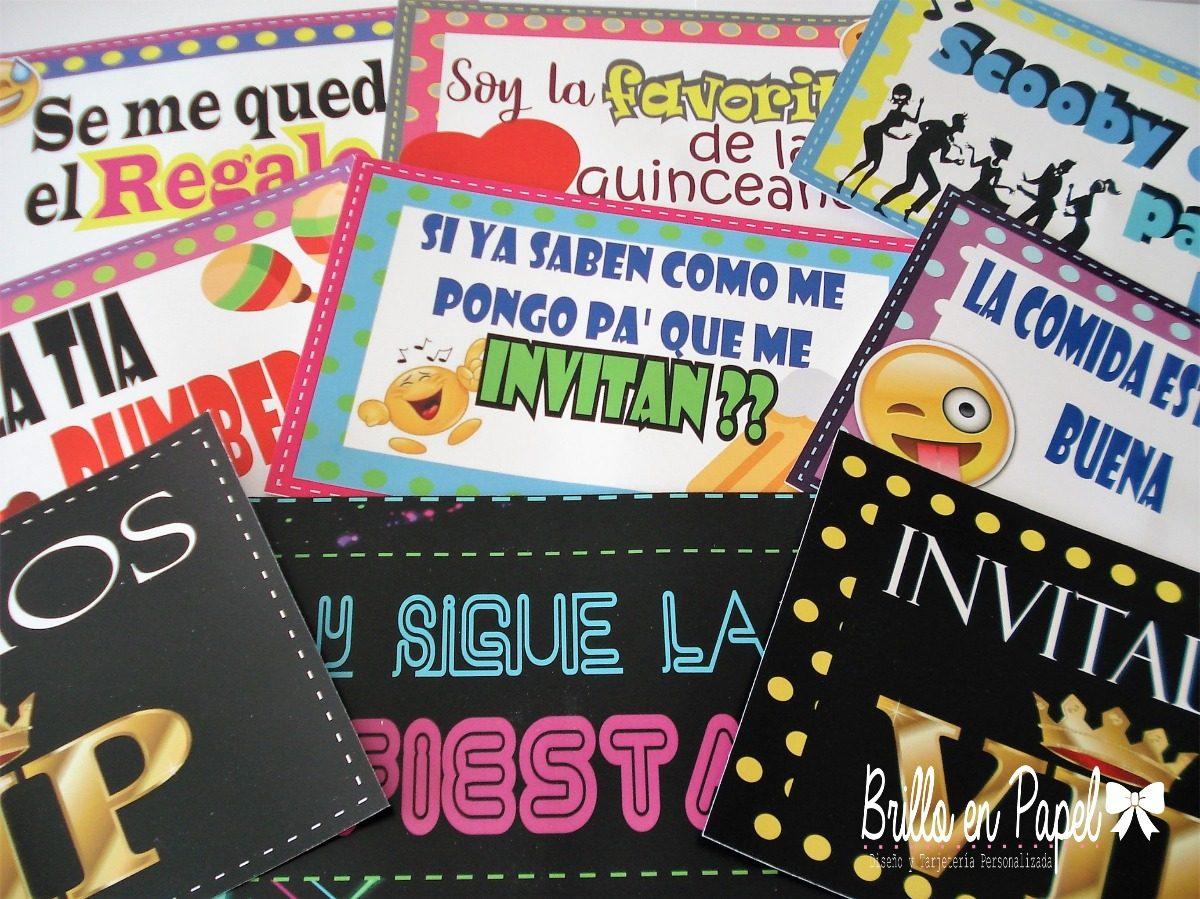 Habladores Carteles Letreros Props Para Fiestas Neón Bs 650