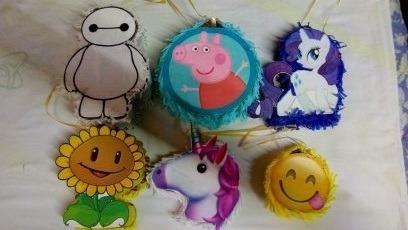 hacemos mini piñatas, dulceros y figuras