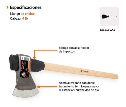 hacha con mango alto acero carbono truper calidad mexicana