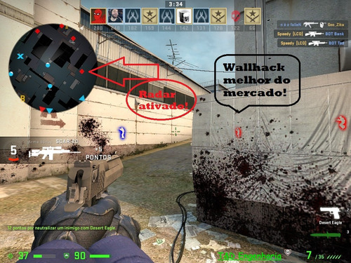 hack csgo (wall aimbot radar) - atualização cs go 25/06/19