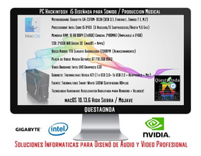 Hackintosh I5 Nvidia - Mac En Pc - Sonido / Música