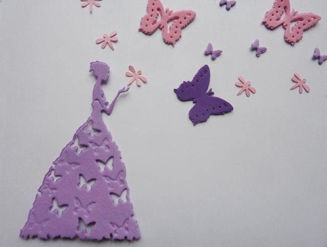 Hada princesa mariposas campanita formas goma eva for Decoracion con goma eva