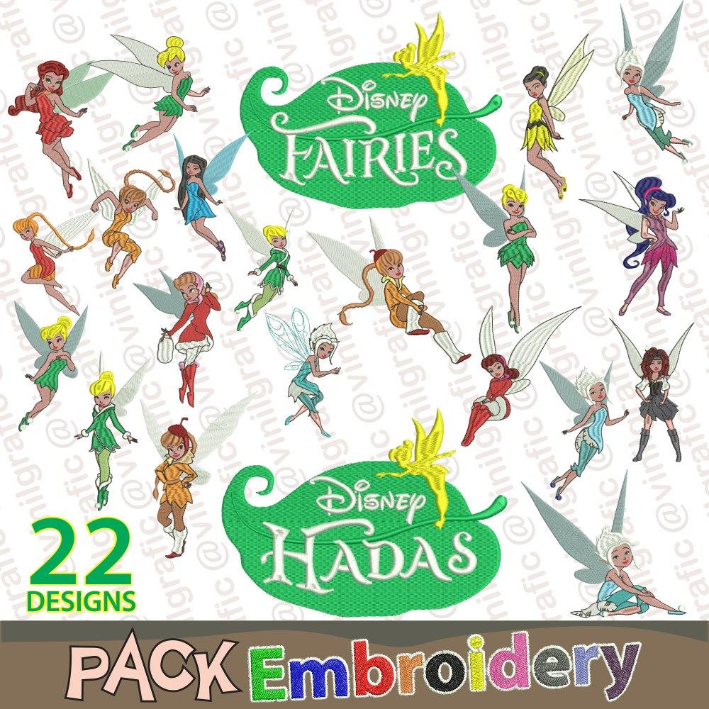 Hadas Princesas Kit De 22 Diseños Bordados Costura Patrones ...
