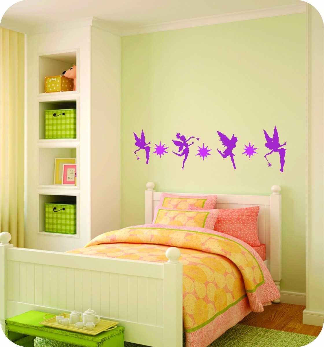 Hadas vinilo infantil ni as decoraci n casa cuarto for Decoracion cuarto nina