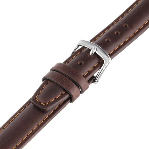 hadley-roma msm881lb-160 - correa de reloj de cuero marrón c