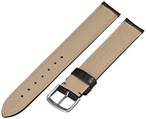 hadleyroma ms2045ra 160 correa de reloj de cuero negro de pi
