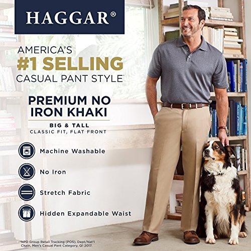 haggar mens bigtall premium sin plancha classicfit expandabl