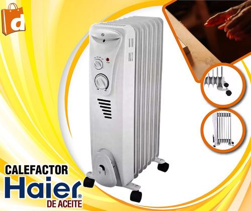 haier calefactor electrico a aceite  incluido iva