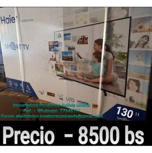 haier .uhd led tv 4k 50 pulg. control inteligente wifi usb