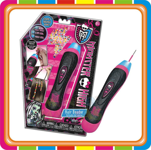 hair beader aplicador de cuentas monster high - mundo manias