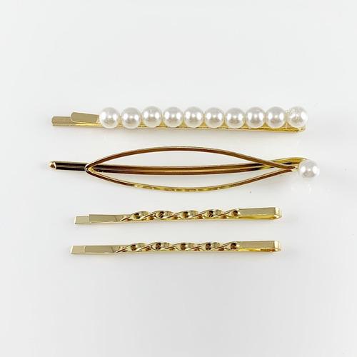 hair pin, pines, gancho dorado con perlas, broches de moda