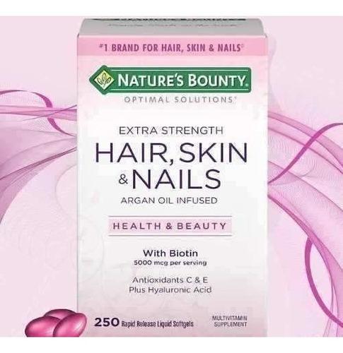 hair skin nails cabello piel uñas 250 soft biotin