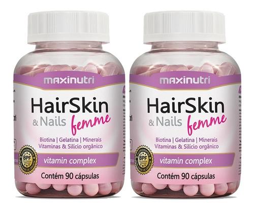 hair skin & nails femme maxinutri 2x90cps # cápsulas beleza