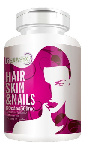 hair skin nails original 60 cápsulas 500mg