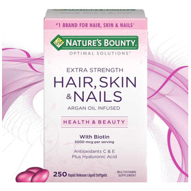 Hair Skin Y Nails 250 Caps Biotin Biotina Argan Hialuronico