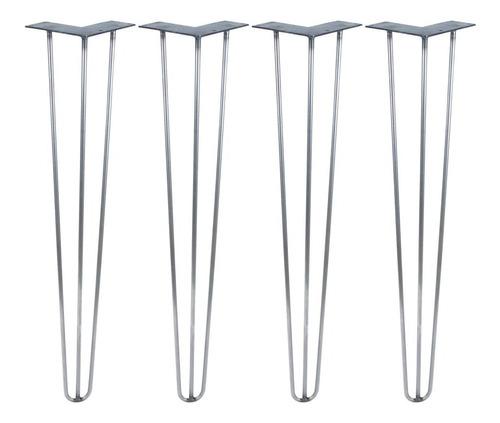hairpin hierro legs patas industrial 74 cm reforzada mesa