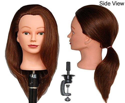 hairztar 100% cabello humano 18 20 cabeza maniquí peluquería