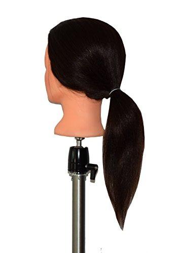 hairztar 100% cabello humano 20 21 cabeza maniquí cabeza ent