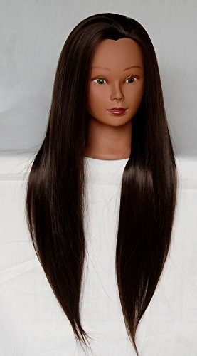 hairztar cabeza maniquí fibra sintética 30 larga y gruesa ca