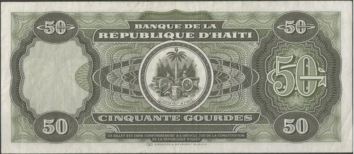 haiti, 50 gourdes 1991 p257a