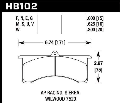 halcón performance hb102s.800 del freno de disco almohadilla