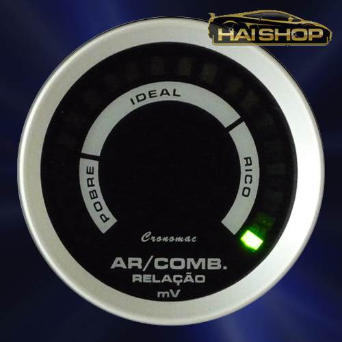 hallmeter digital 52mm cronomac sport air/fuel manômetro led