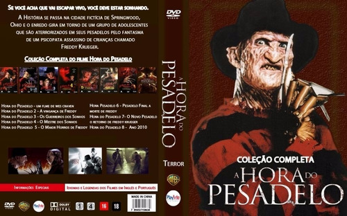 halloween 10+hora pesadelo 8 sexta 13  12 dvds  no envelope