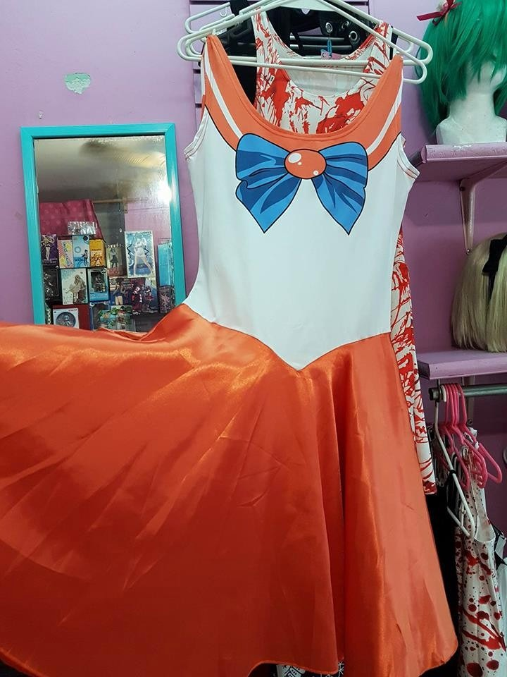 f423963ce4ca0 Halloween Cosplay Disfraz Vestido Sailor Venus Sailor Scouts ...