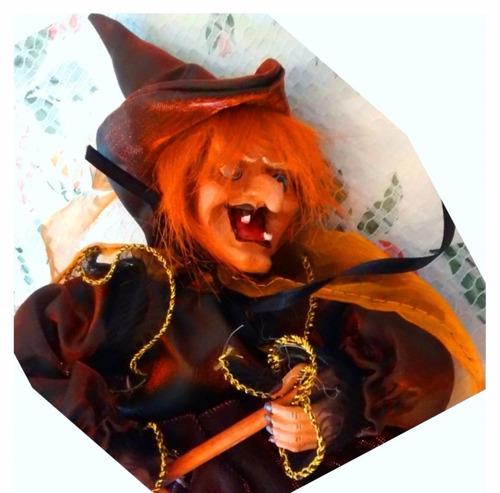halloween decoracion bruja adorno se rie y enciende los ojos
