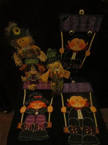 halloween decoracion vampiros madera