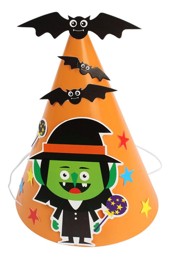 Halloween Diy Papel Ty Chapeu Criancas Extravagante Vestid