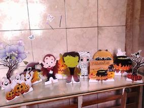 Decoracao De Festa Infantil Tema Halloween.Halloween Kit De Decoracao De Festa 10 Mini Displays Mdf