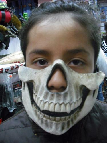 halloween mascara 1/2 calavera