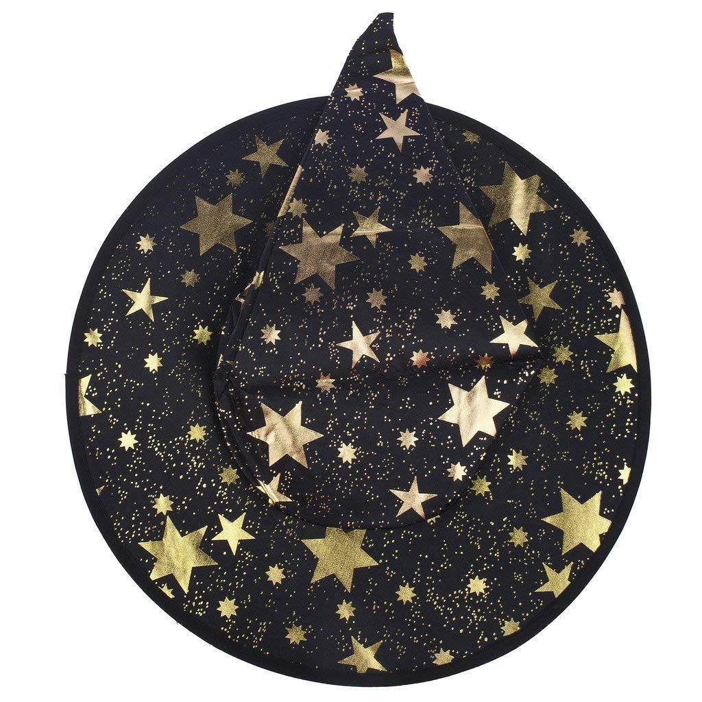 Halloween Negro Y Dorado Estrella Sombrero De Bruja -   133.700 en ... 116d402fd1f