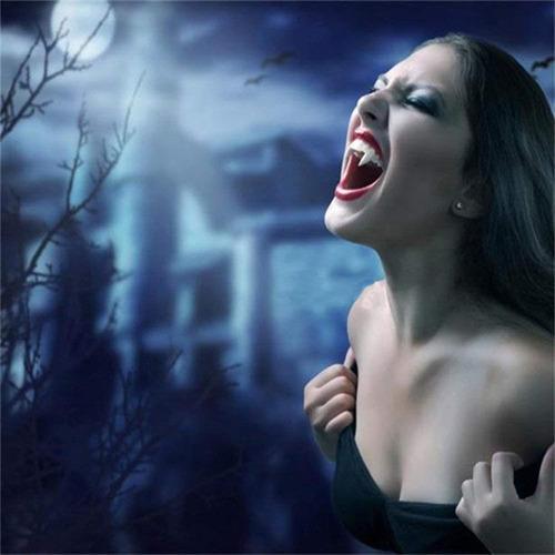 halloween tinksky blancos dientes del vampiro caps hombre lo
